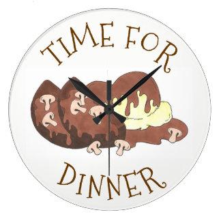 Relógio Grande Hora para a comida triturada comensal do molho do