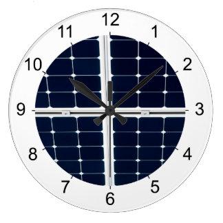 Relógio Grande Imagem do painel de energias solares engraçada