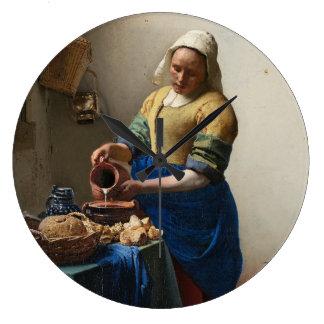 Relógio Grande JOHANNES VERMEER - O milkmaid 1658