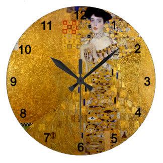 """Relógio Grande Klimt , """" Adele Bloch-Bauer I """""""