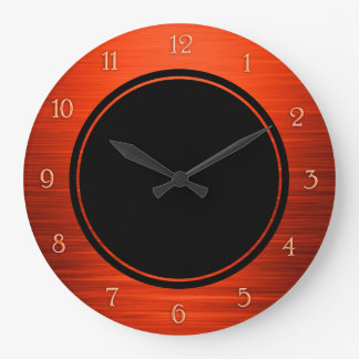 Relógio Grande Laranja brilhante elegante pulso de disparo de