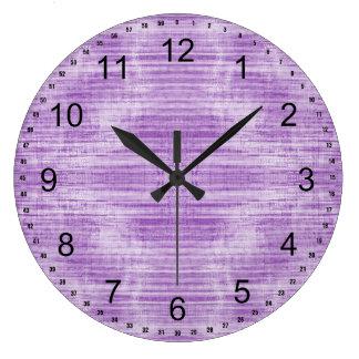 Relógio Grande Luz - roxo Textured