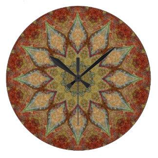 Relógio Grande Mandala de cobre 00168-5 do Patina