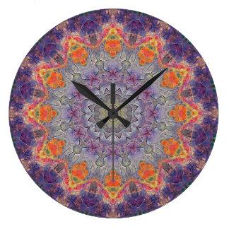 Relógio Grande Mandala de cobre 00237-2 do Patina