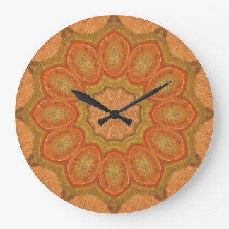 Relógio Grande Mandala de cobre 00711-1 do Patina