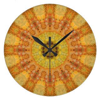 Relógio Grande Mandala de cobre 01569-2 do Patina