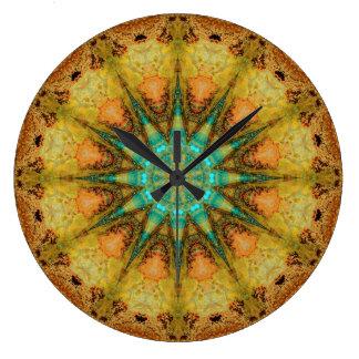 Relógio Grande Mandala de cobre 01569-4 do Patina