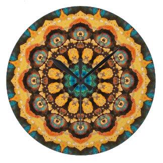 Relógio Grande Mandala de cobre 04363-1 do Patina