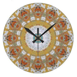 Relógio Grande Mandala de cobre 04718-1 do Patina