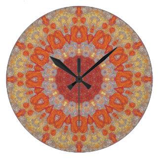 Relógio Grande Mandala de cobre 05834-1 do Patina