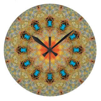 Relógio Grande Mandala de cobre 06106-3 do Patina