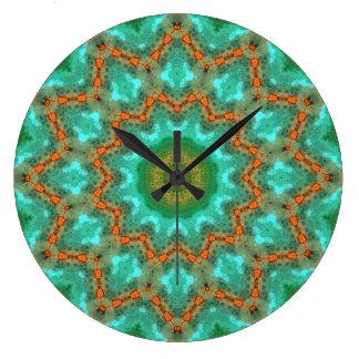 Relógio Grande Mandala de cobre 06308-1 do Patina