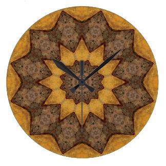 Relógio Grande Mandala de cobre 09943-1 do Patina
