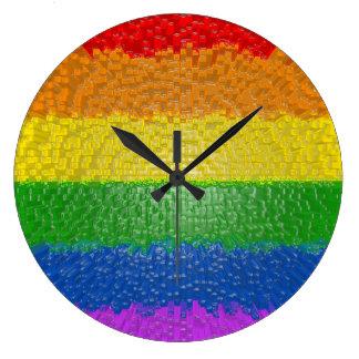 """Relógio Grande MyPride365 - """"Textured pulso de disparo de parede"""