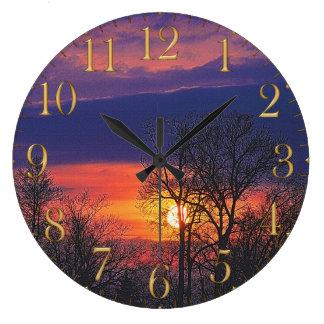 Relógio Grande Nascer do sol do alvorecer & arte 2 da natureza