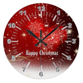 Relógio Grande Números do cromo do Natal
