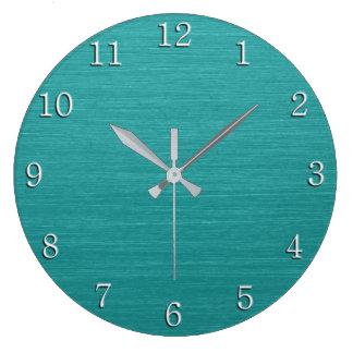Relógio Grande Olhar escovado kash001 do metal da cerceta com