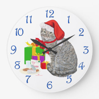 Relógio Grande Papai noel de espera