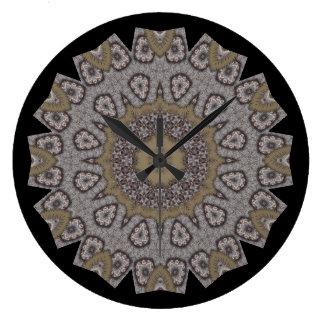 Relógio Grande Ponto Textured do falso do Taupe