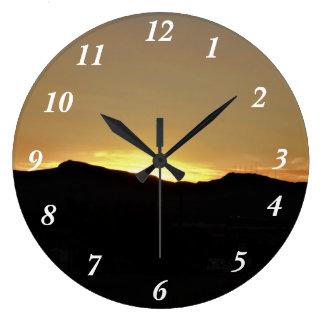 Relógio Grande Por do sol da montanha