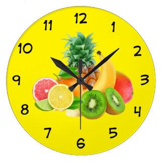 Relógio Grande Pulso de disparo da cozinha da fruta