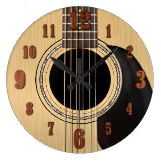 Relógio Grande Pulso de disparo da guitarra acústica com números