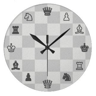 Relógio Grande Pulso de disparo da xadrez