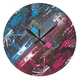 Relógio Grande Pulso de disparo de parede da arte abstracta