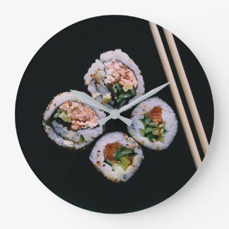 Relógio Grande Pulso de disparo de parede do sushi