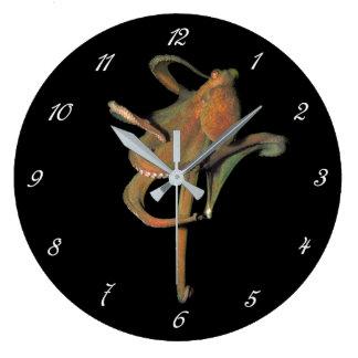 Relógio Grande Pulso de disparo de parede redondo do polvo