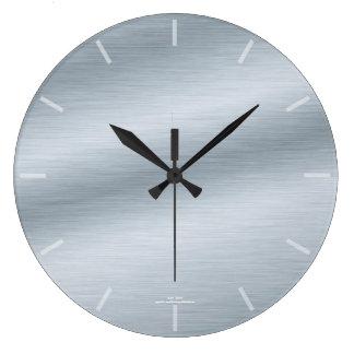 Relógio Grande Pulso de disparo de prata escovado elegante do