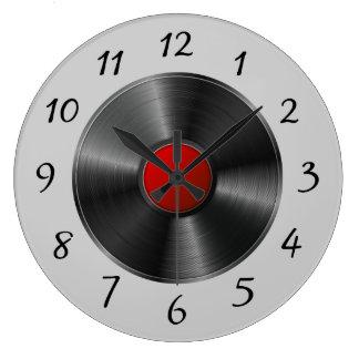 Relógio Grande Registro de vinil isolado