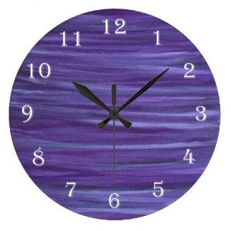 Relógio Grande Roxo violeta do Lilac da lavanda indiferente
