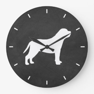 Relógio Grande Silhueta do Mastiff