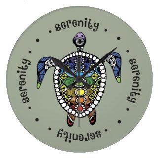 Relógio Grande Tartaruga Chakras da serenidade
