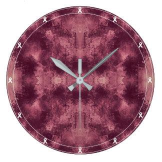 Relógio Grande Teste padrão manchado Claret