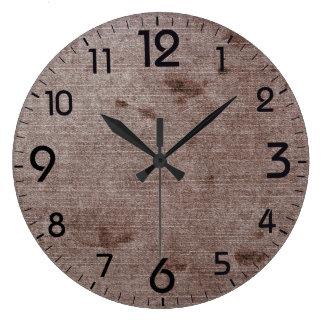 Relógio Grande Teste padrão retro Textured do grunge