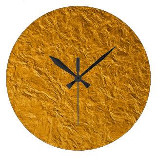 Relógio Grande Textura dourada