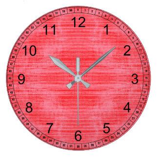 Relógio Grande Textura vermelha brilhante