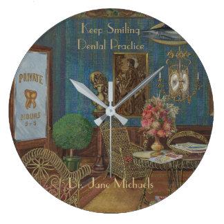 Relógio Grande Vintage dental do Gouache da aguarela da sala de