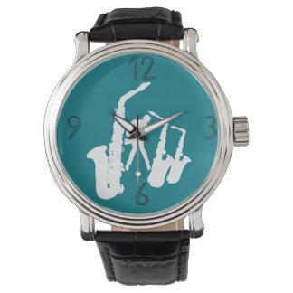 Relógio moderno 2 dos números do Jazzman branco do