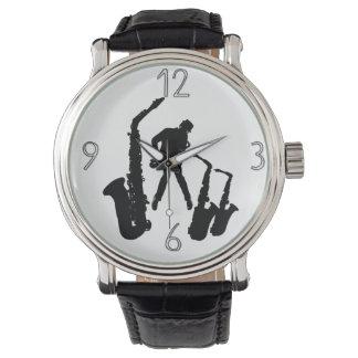 Relógio moderno 5 dos números do Jazzman 2 pretos