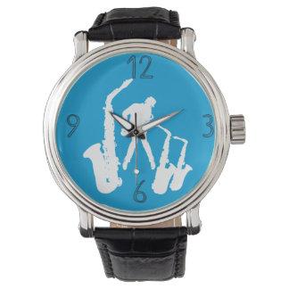 Relógio moderno 6 dos números do Jazzman 2 brancos