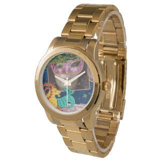 Relógio Mulher do Capricórnio do zodíaco do ouro