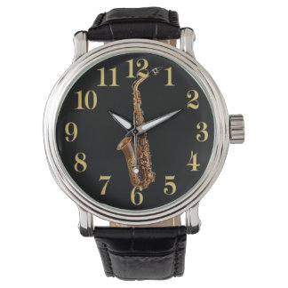 Relógio O presente Música-Temático do músico do saxofone