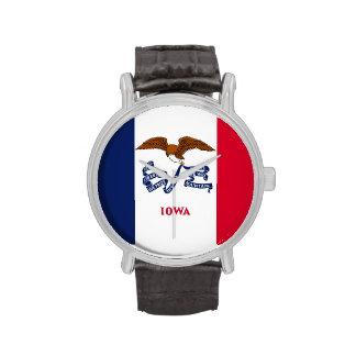 Relógio patriótico, especial com a bandeira de Iow