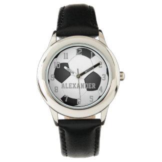 Relógio personalizado da bola de futebol dos