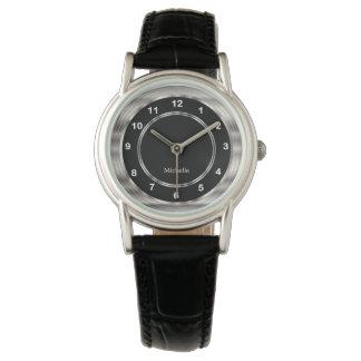 Relógio Personalize o estilo moderno com números brancos