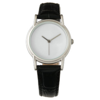 Relógio preto clássico da correia de couro das