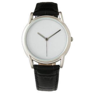 Relógio preto clássico da correia de couro dos